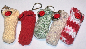 lady  bug chapstick holders